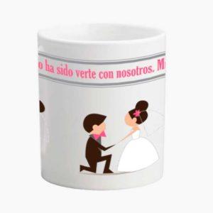 taza para bodas de ceramica