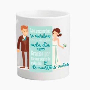 Taza para bodas gracias por formar parte de este dia